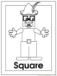 Small Picture B Square Coloring Page Free Shapes Coloring Pages