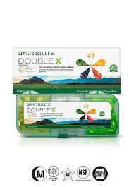nutrilite double x vitamin mineral phytonutrient supplement 31 day supply with 3 partment case