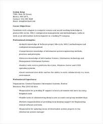 It System Engineer Resume It Operations Manager Resume