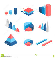 Isometric Flat 3d Infographic Elements With Data Icons And