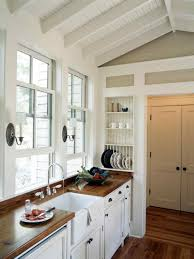 white country kitchen with butcher block. White Country Kitchen With Butcher Block H
