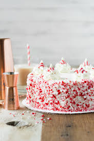 Chocolate Peppermint Cake with White Chocolate Frosting