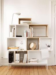 Modern Muuto Stackable Bookcase and Bookshelf - Interior Designer Style Shelving  System - Nordic and Scandinavian