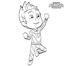 Pj Masks Coloring Pages Catboy Heroes In Pajama Get Coloring Pages