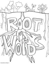Coloring Pages For 4th Graders Reading Coloring Page Root Words