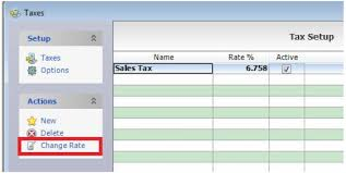 How To Change Tax Rate Golf Business Solutions Golf