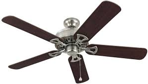 42 inch flush mount ceiling fan without light new harbor breeze classic in brushed nickel close