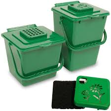 small compost bin 1 5 gal green w vented lid 8 starline supply