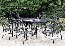 stunning black metal patio furniture with chiars