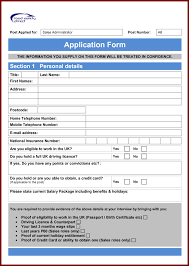 Admission Form Word Format Employment Application Job Template