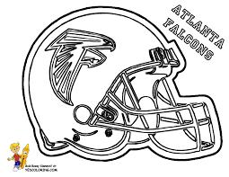 Atlanta Falcons Football Helmets At Coloring Pages Book For Kids