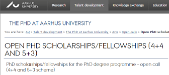Phd Degree Aarhus University Fellowships For Phd Degree Programme Denmark