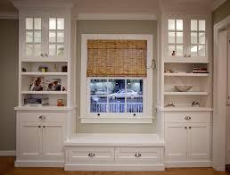window seat bookshelf griffin custom cabinets