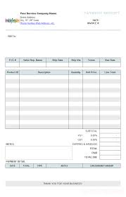 Example Of A Receipt Hotel Billing Software With Excel Receipt Template Service Form 24