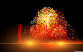 happy new year 2016 with fireworks. Plain New Wide  On Happy New Year 2016 With Fireworks