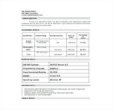 Resume In Word Format Download Sap Consultant Resume Template Word ...