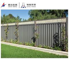 steel fence panels corrugated metal panelspost cross within plans 15