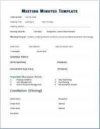 Formal Meeting Minutes Template Minute Templates For Ms Word