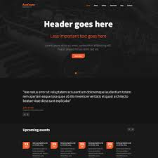 Free Online Template Music Band Free Responsive Website Template