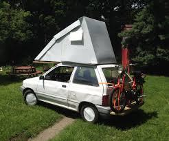 Small Car Camper Festfalia A Ford Festiva Flip Top Hyper Miler Camper Ford