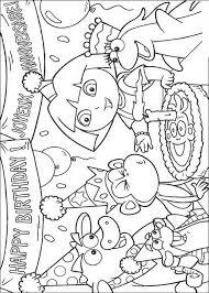 Kids N Funcom Coloring Page Dora The Explorer Dora The Explorer