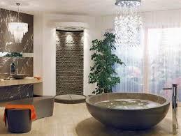 image unique bathroom. Contemporary Glass Chandelier Hanging Over The Bathtub Image Unique Bathroom U