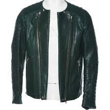 balmain men s green leather vest