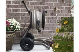 rapid reel garden hose reel carts with