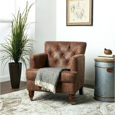 abbyson living chair antique brown fabric club tufted leather furniture reviews