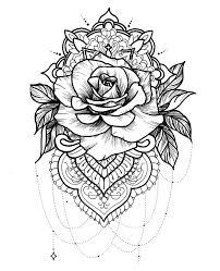 awesome rose mandala coloring pages gallery 7 g print