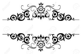 Floral Pattern Black And White Border - #pr-energy