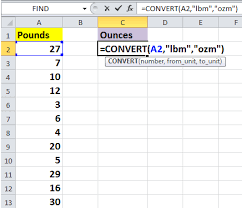 Pounds Into Kilograms Conversion Chart How To Quickly Convert Pounds To Ounces Grams Kg In Excel