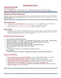 Superb Microbiology Resume Samples Free Career Resume Template