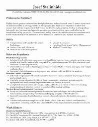 Phlebotomist Job Description For Resume Awesome Phlebotomy Skills