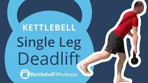 Kettlebell Exercise Chart Kettlebell Single Leg Deadlift