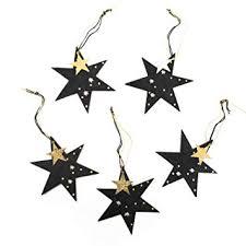 Amazonde 5 Stück Schwarz Golden Glänzende Weihnachts