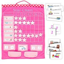 Fiesta Crafts Fabric Star Chart New Pink Fabric Hanging Star Reward Chart Fiesta Crafts