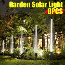 8pcs white led outdoor solar power