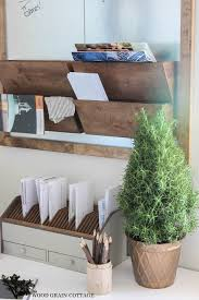 home office wall organizer. @woodgraincottge The Wood Grain Cottage - Galvanized Metal \u0026 Wall Organizer | DIY Home Office Organization Project And Tutorial Plans. I