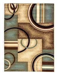 blue and brown rugs modern geometric area dash albert verona