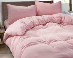 Pink bedding   Etsy & Ballet Slipper Pink duvet cover made of 100% ultra soft linen, pink bedding, Adamdwight.com