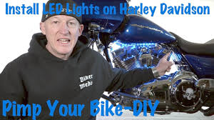 Where To Place Led Lights On Motorcycle How To Install Led Lights On A Harley Davidson Tutorial Guide