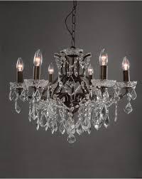 eden bronze 6 light shallow traditional glass crystal chandelier