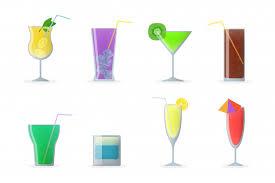 <b>Набор бокалов для коктейля</b> | Бесплатно векторы
