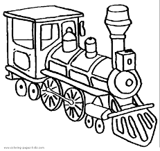 Landscape with a train on a curve. Locomotive Color Pages Coloring Pages For Kids Transportation Coloring Pages Printable Colori Train Coloring Pages Coloring Pages For Kids Coloring Books