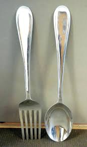 large spoon and fork wall decor large spoon and fork wall decor large silver spoon and