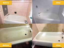what is the process of refinishing a porcelain tub