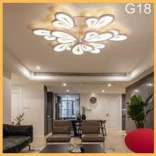 Đèn LED ốp trần phòng khách-đèn ốp trần hiện đại A18 - 3 chế độ sáng kèm  điều khiển từ xa, bảo hành 1 năm giá cạnh tranh