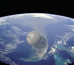 death star size the death star vs florida and other photorealistic scale