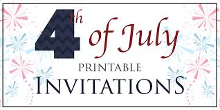 4th of july printable party invitations